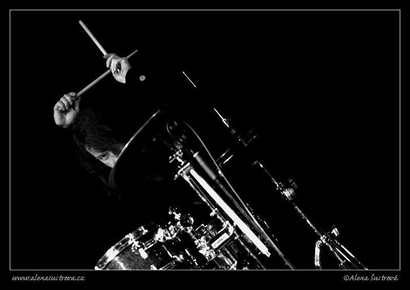 Saundersband drums bw 4